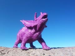 Purple dinosaur (R D L) Tags: sea sky toys purple dinosaur models september northberwick 2010 eastlothian