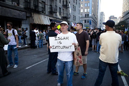 9/11 Ground Zero Mosque Protest/Anti-Protest, Sept. 11, 2010