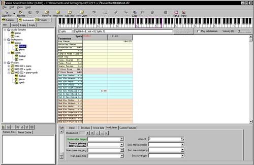 Viena SoundFont Editor