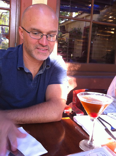 The Birthday Boy! (Enjoying a Manhattan)