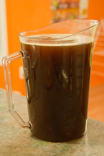 Bière de Noël: rinçage des drêches