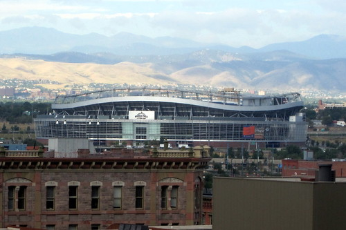 Denver: Invesco Field – View from Westin Tabor Center Pool