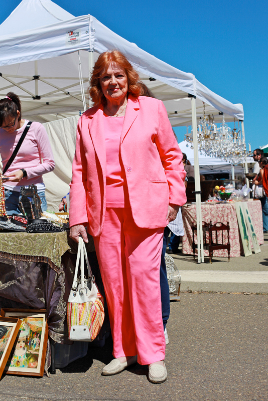 pink - alameda flea market street style fashion
