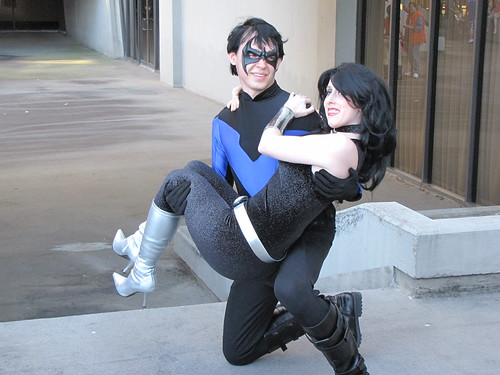 Nightwing and Donna Troy