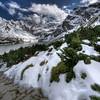 trail to mountain pass Karb 1853 m n.p.m. the first snow this year ;-) (Mariusz Petelicki) Tags: snow pond poland polska góry hdr tatry mountainpass śnieg staw tatramountains karb podhale przełęczkarb czarnystawgąsienicowy 2x3xp vertorama mariuszpetelicki