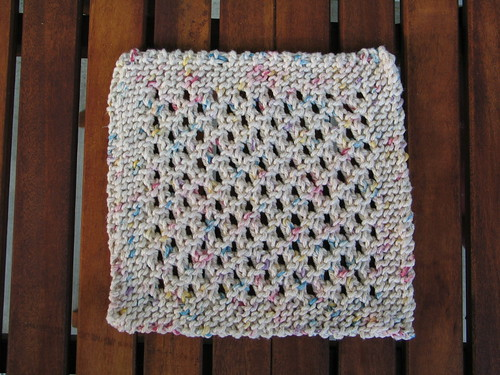The dishrag I knit