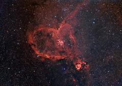 [フリー画像] 自然・風景, 天体・宇宙, 銀河・星雲, ハート, 201009160100