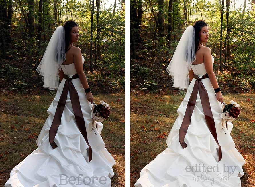 Sarah Bridal 1 Before and After