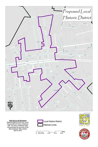 Proposed Local Historic District Boundary in Waxhaw