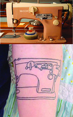 sewing machine tattoo before after