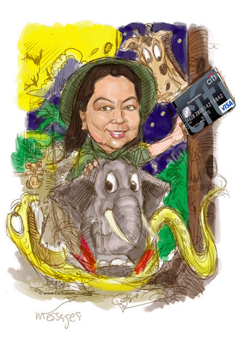 Safari caricature for Citibank - colour scheme (small)