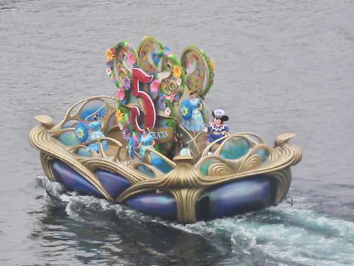 5周年の時の船