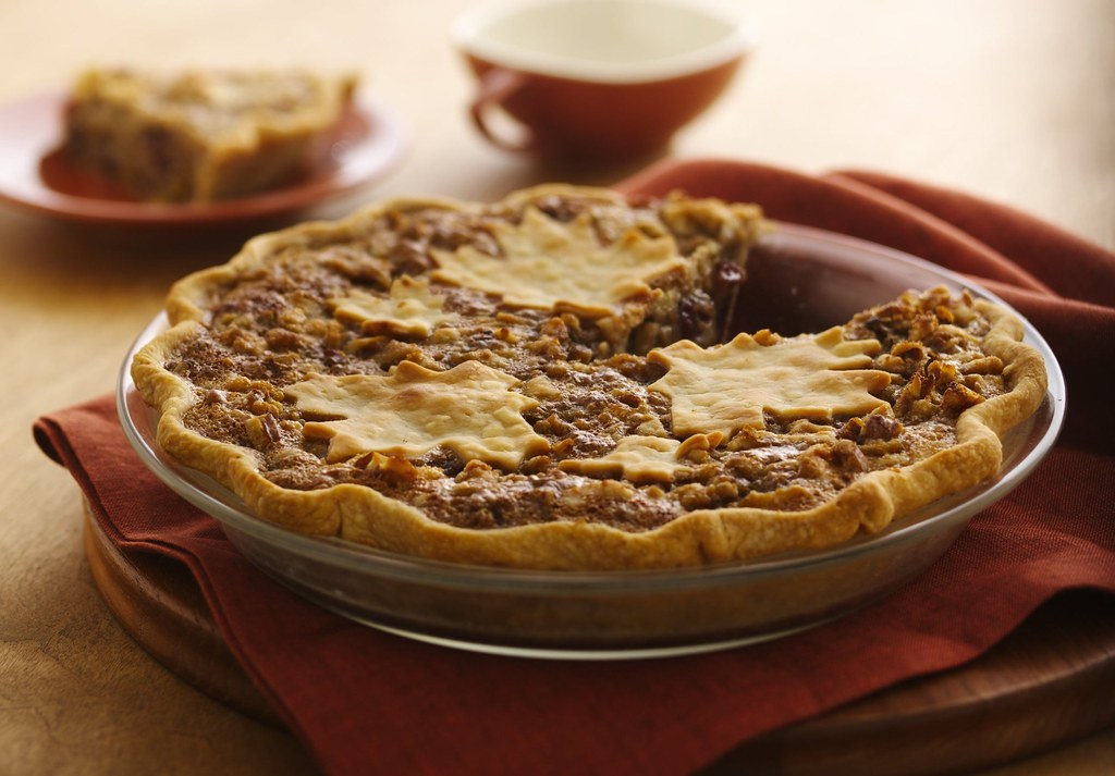 Cranberry-Raisin Maple Nut Pie Recipe