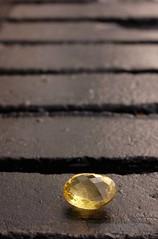 Quartz (longhairbroad) Tags: lemon bricks faceted quartz gem jewel adventuresingemstones