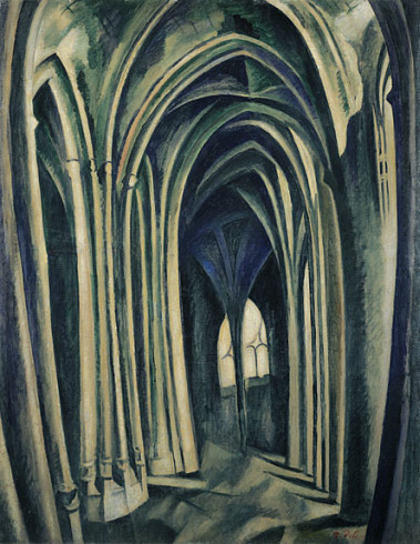 Saint-Séverin No. 3, 1909–10. Oil on canvas, Robert Delaunay