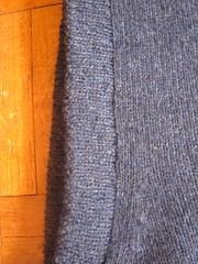 Mended cashmere jumper