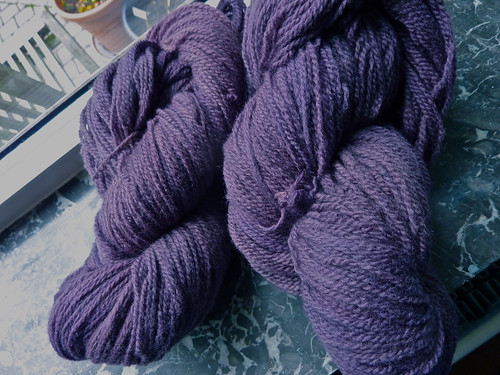 merino dyed with logwood