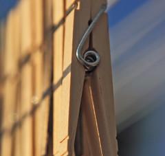 Angled Pinches (cobalt123) Tags: wood light shadow arizona brown composition wooden focus dof tan lightandshadow prescott clothespins theresashome woodorbark
