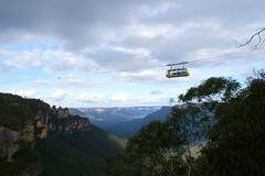 Skytrain at the Three Sisters over the Jamison Valley (Tiensche) Tags: blue panorama mountain sydney australia bluemountains nsw threesisters katoomba leura scenicworld