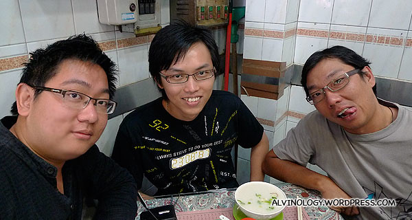 Me, Lawrence and Ming Choy, still fresh in the morning
