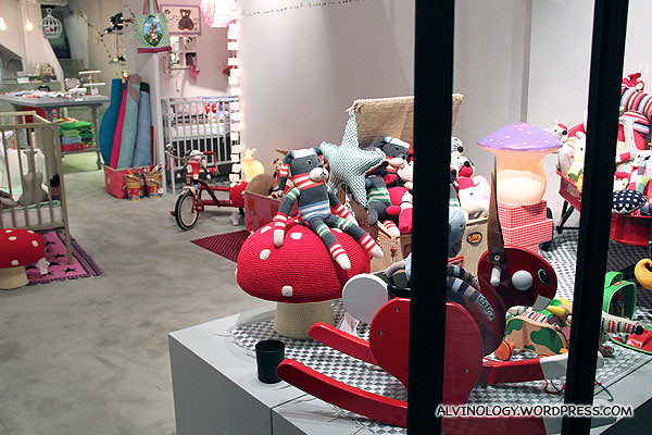 Shop selling designer's kids toys