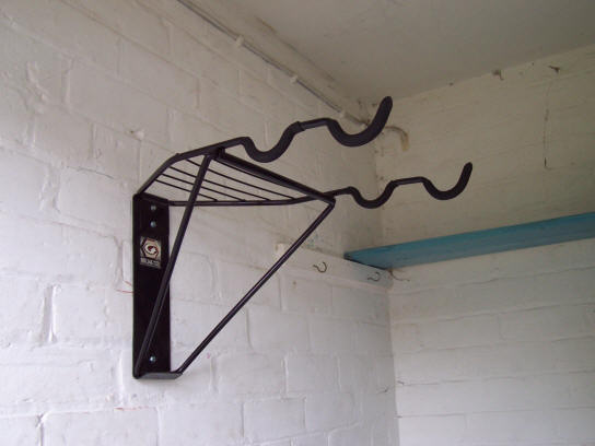 How To Hang Bike On Wall gear up off-the-wall 2-bike horizontal bike rack review