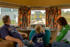 Watching the World go by (Mike Miley) Tags: railroad usa train observation union rail il firstclass streamliner irm illinoisrailwaymuseum cnw cbq 9911a nebraskazephyr