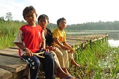 Sons of the Chini Lake (photo-razzo) Tags: people lake green kids asian kid nikon asia southeastasia malaysia aborigine pahang lakechini indigenous anak orangasli d90 tasikchini jakun asiatenggara gumum