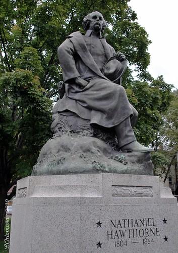Nathaniel Hawthorne Statue in Salem