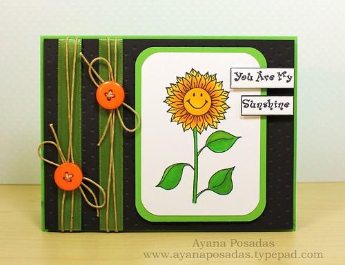 Sunflower Sketch Card (1)