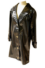 Mary Quant Raincoat (Herbert Art Gallery & Museum, Coventry) Tags: fashion museum costume coat objects collections coventry herbert raincoat pvc 1965 maryquant herbertartgallerymuseum