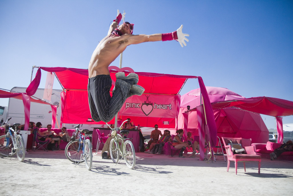 Halcyon jumpshot @ Pink Heart Camp - Burning Man 2010