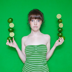 Lauren Lime? (laurenlemon) Tags: selfportrait silly green me colorful limes 2010 canoneos5dmarkii laurenrandolph laurenlemon laurenlime