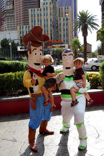 The Boys with Woody and Buzz