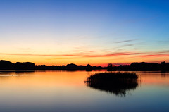 last summer evening (Gerald W. Photography) Tags: light sunset sky lake nature water germany landscape bayern deutschland bavaria see licht nikon wasser natur oberbayern himmel 2010 countyside d90