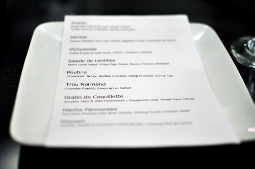 Chef Ben Bailly's French Comfort Food Menu
