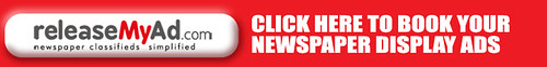 Book Your Newspaper Display Ad - releaseMyAd