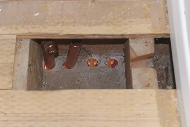 plumbing in our wood stove