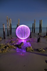 Ball of Light - Purple Crush (biskitboy) Tags: lighting light lightpainting color art beach night port canon ball circle purple bright artistic orb balls australia sphere round orbs southaustralia canondslr junkies lightart balloflight portwillunga paintinglight australialight 5dmkii 5dmk2 willungabeachsandcloudsstarsadelaidesouth colourbrightcolors