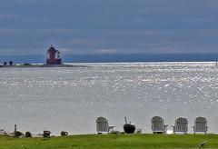 Round Island Lighthouse (Larry the Biker) Tags: autumn lighthouse lake fall water michigan resort channel mackinacisland lakehuron greatlake roundisland roundislandlighthouse