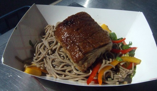 Pork Belly with Soba Noodle salad from The Porker