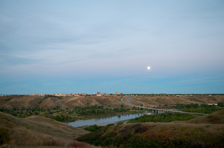 Lethbridge at dusk