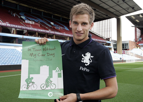Marc Albrighton supporting our car-free day