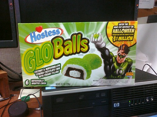 Ptw Greeted by Hostess Glo Balls in my office today