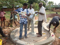 Alpha vocational home,attachment of water tank cover during pump installation