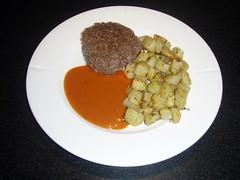 Kartoffelstykker med hvidløg og rosmarin
