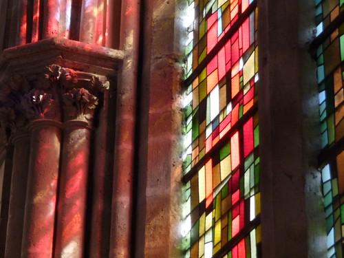 Tours , St Julien , pour son ouverture exceptionnelle lors des journées du Patrimoine , elle brille de tous ses feux et de toutes ses couleurs , Indre et Loire