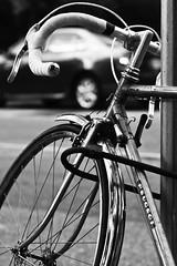Streets on lock (Shivanand Velmurugan) Tags: street bw delete10 vancouver delete9 delete5 delete2 blackwhite downtown delete6 delete7 touch delete8 delete3 delete delete4 bicycles peugeot cycles ef70200mmf28lisusm deletedbydeletemeuncensored