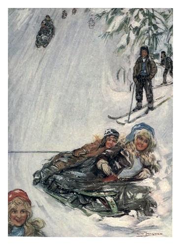 016-Jovenes en las montañas de Holmencollen-Norway 1905 -Nico Jungman