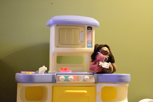Toy Kitchen shot with Nikon D3100 @ ISO 6400